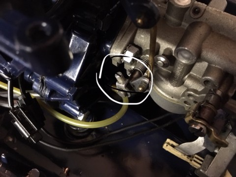 This throttle adjustment was incorrect, that is why carb wouldn't open up nor idle well